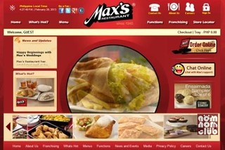 Max's Restaurant Website & Online Delivery