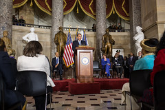 Speaker John Boehner delivers remarks at the Rosa Parks statue unveiling ceremony in National Statuary Hall of the U.S. Capitol.  February 27, 2013.  (Official Photo by Heather Reed)