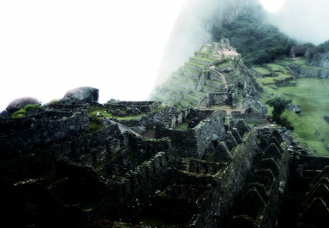 Machu Picchu Under Clouds