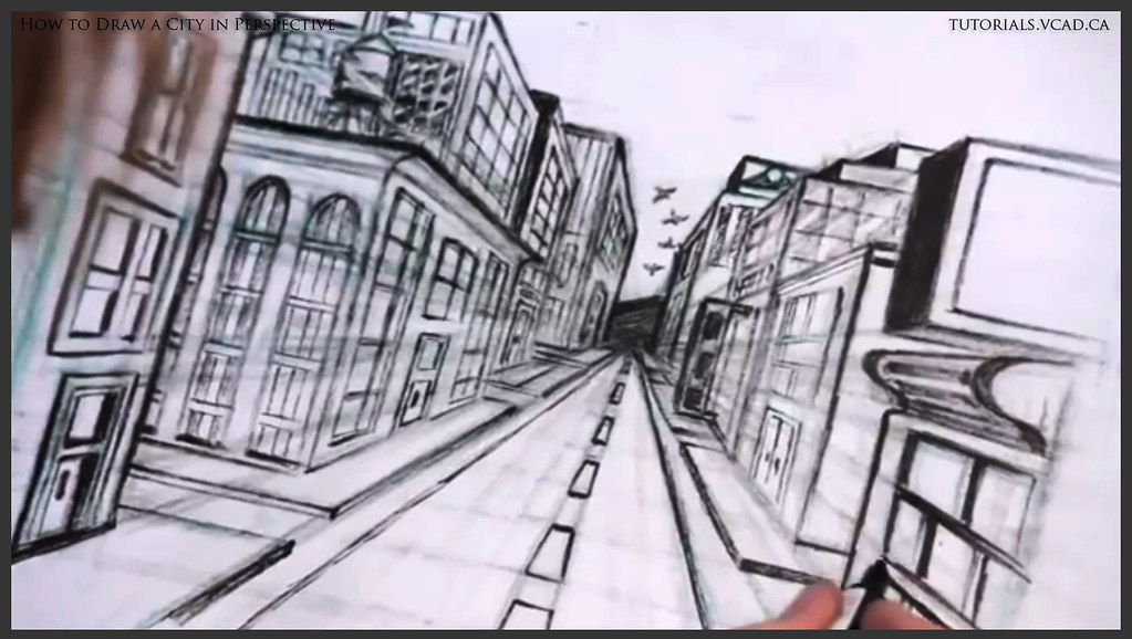 Learn How To Draw City Buildings In Perspective 040 Flickr