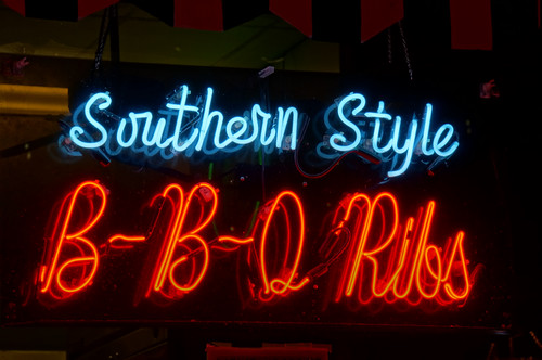 Southern Style BBQ Ribs, Beale Street, Memphis, Tennessee