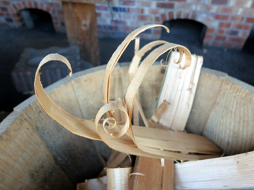 Wood shavings to start the forge fire