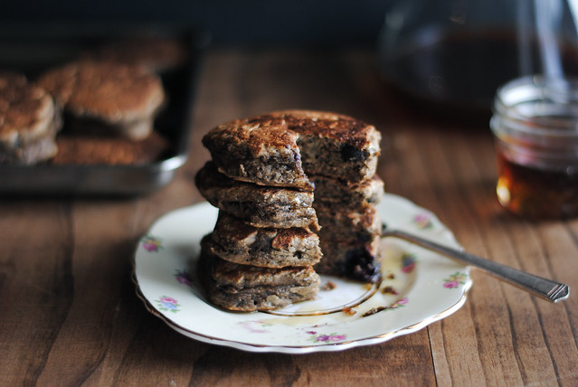 Banana Blueberry Buckwheat Pancakes