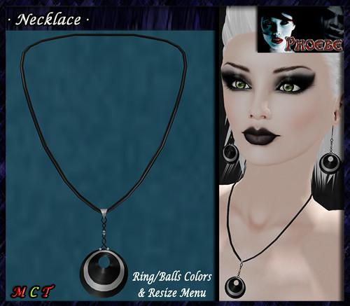 *P* Laia Necklace ~Black&Silver~ Colors Menu
