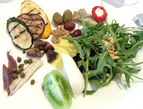 Olives, Grilled Vegetables, Anchovies, Mozzarella Cheese, Arugula etc.