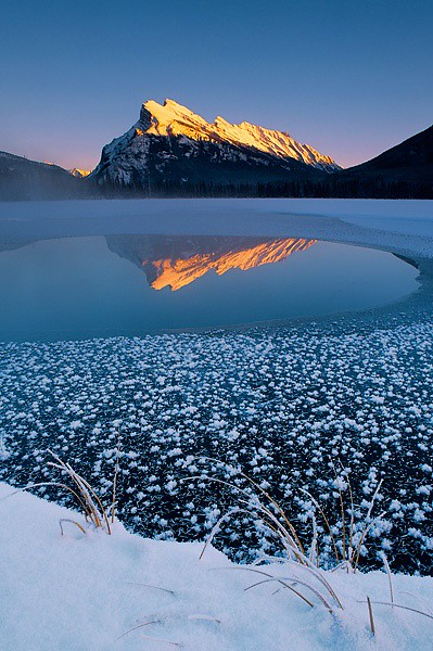 Mount Rundle and Vermilion Lake, Banff National Park, Alberta, Canada