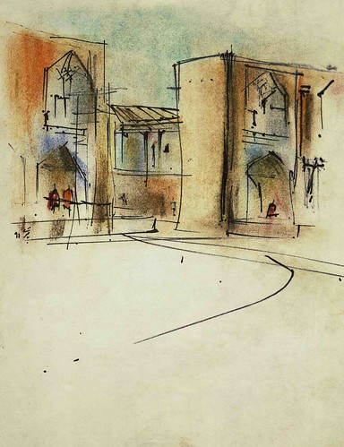 Naqshe Jahan Square Entrances (2) by Behzad Bagheri Sketches