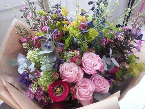 Scarlet & Violet flowers