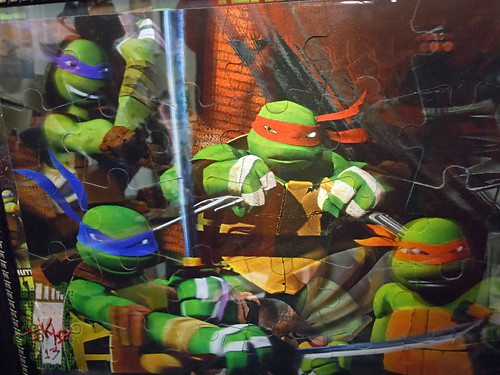 CARDINAL :: Nickelodeon TEENAGE MUTANT NINJA TURTLES - 48 Piece Lenticular Puzzle // tOkKustom matte & framed v  (( 2012 ))