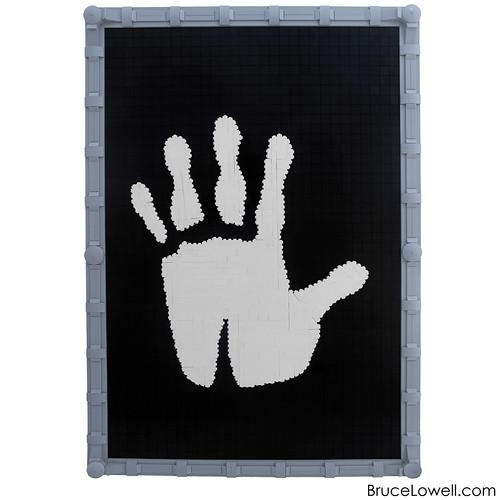 LEGO White Hand of Saruman Mosaic