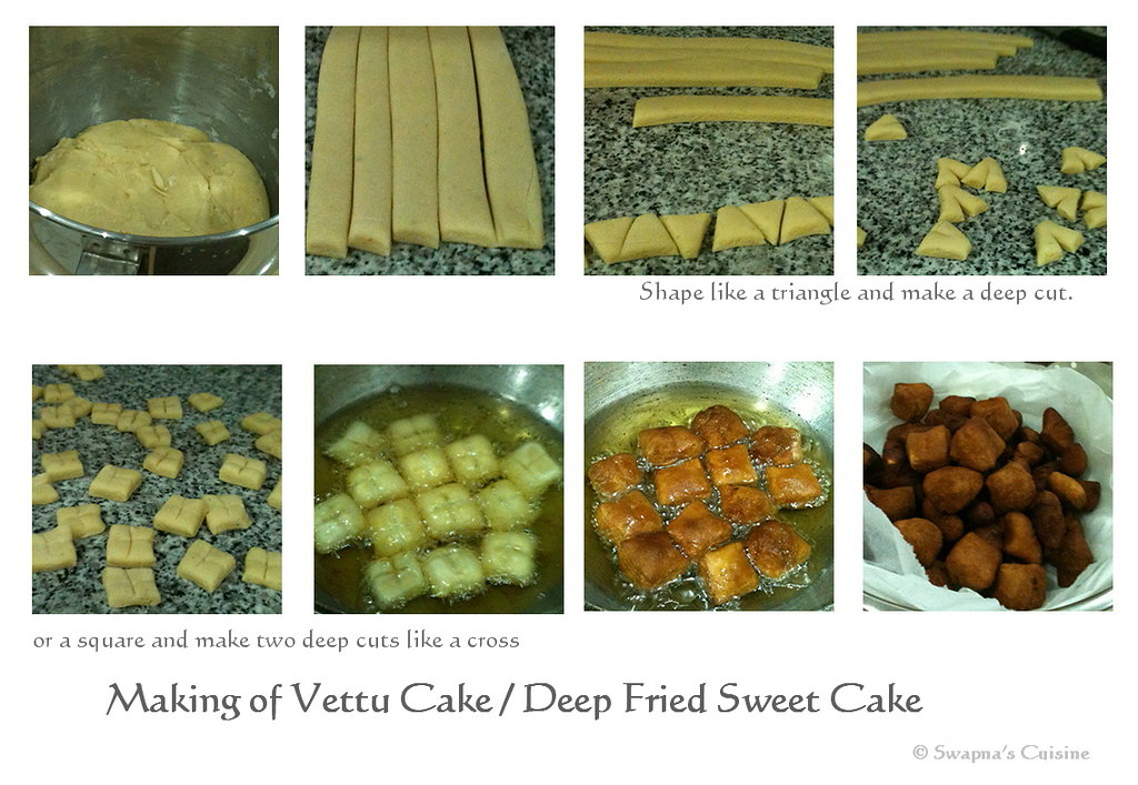 Swapnas cuisine vettu cake recipe deep fried sweet cake a vettu cake step by step recipe forumfinder Gallery