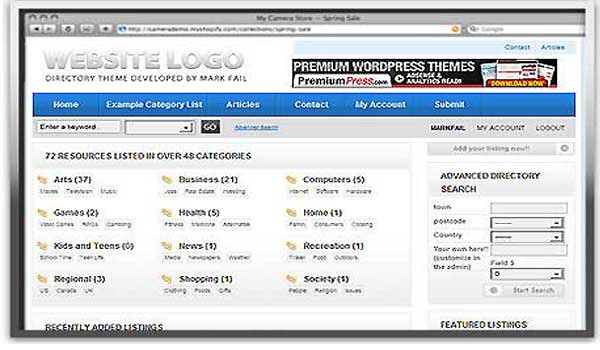 classifieds wordpress theme directory premiumpress