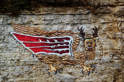 bird rock canon painting illinois ancient mural paint dragon painted indian il nativeamerican ill mississippiriver limestone winged alton claws piasa altonil piasabird t2i illinoistravel