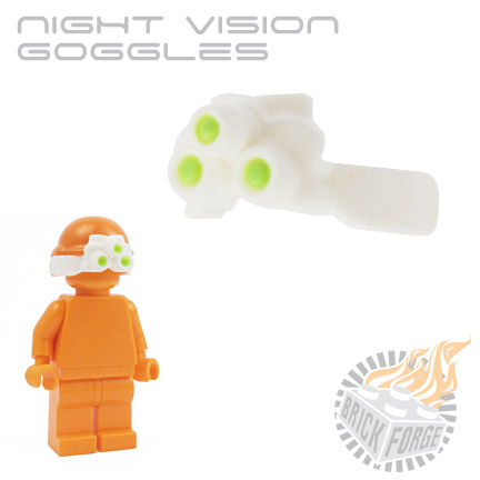 Night Vision Goggles - White (lime green lens print)