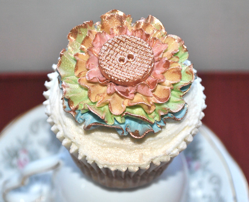 Pretty frilled cupcake