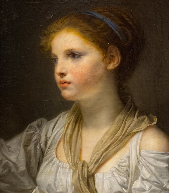 JeanBaptiste Greuze (17251805) Tête de jeune fille au