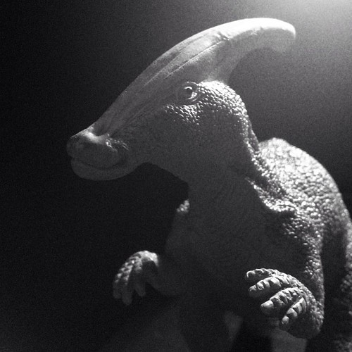 FilmNoir-asaurus? #parasaurolophus is lookin' good in dramatic lighting! #dinosaurs #toys