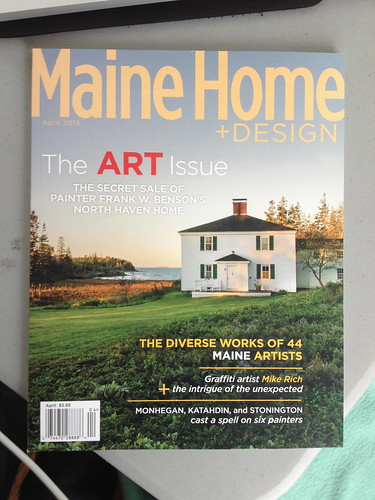 featured interview for Maine Home + Design's annual ART issue by Muy Rico