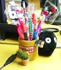 My pen pot at work