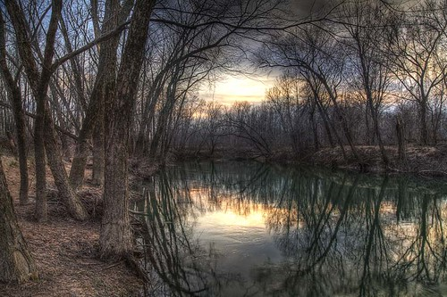 winter sky reflection art nature water horizontal forest landscape stream trail missouri swamp ethereal spiritual hdr wetland enlightened 2013 hudsonriverschool