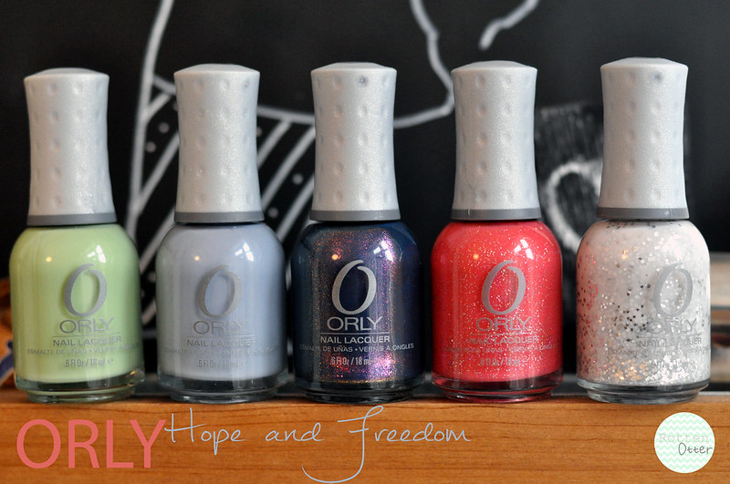 orly hope and freedom spring 2013 nail polish collection rottenotter rotten otter blog