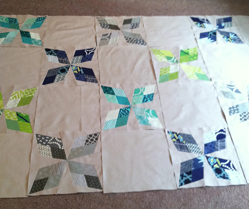 Arkansas Traveler Quilt Top Layout