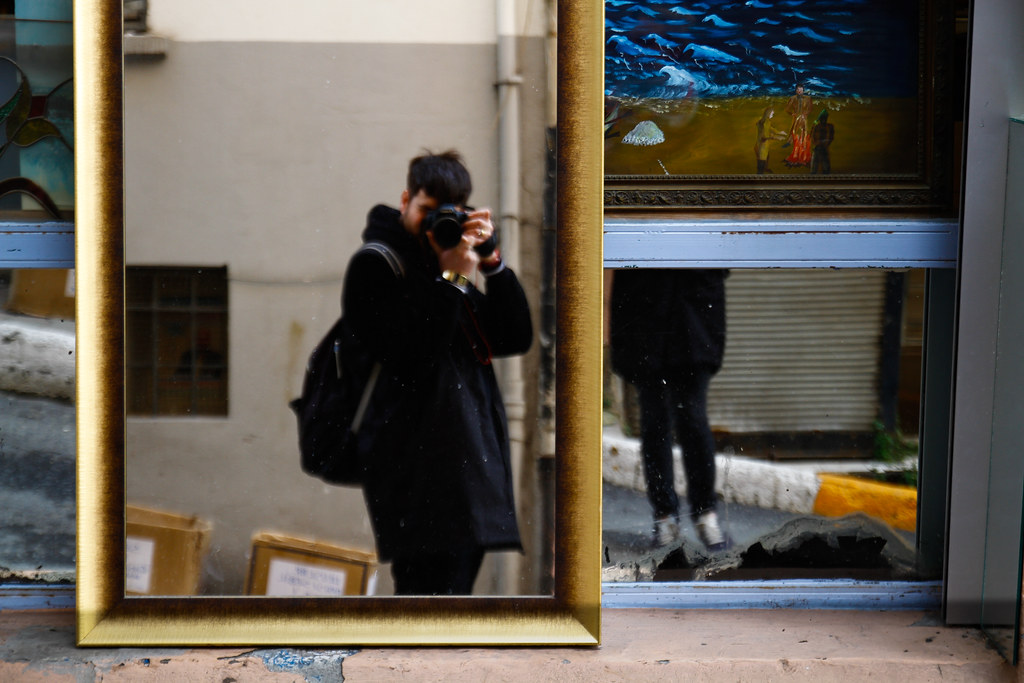 Tuukka13 - REFLECTIONS PHOTO SERIES – SELF-SHOTS ON THE STREETS - Cihangir, Istanbul - 02/2013