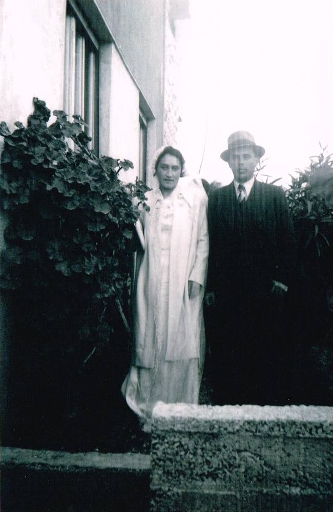My grandparents, on their wedding day
