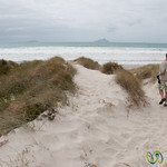 Dan Walks Down Uretiti Beach - Northland, New Zealand