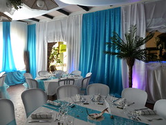 Mariage  turquoise, decoratrice mariage