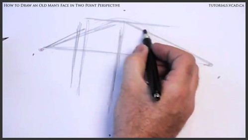 learn how to draw an old man's face in two point perspective 002