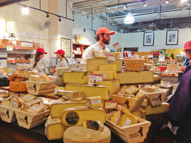 Cheese tasting at the San Francisco Ferry Building - Cowgirl Creamery