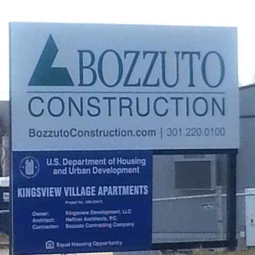 Passing by a construction site of @thebozzutogroup in Germantown, MD