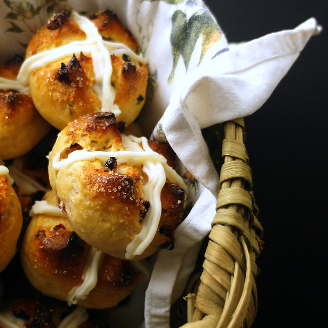 Cranberry Cream Cheese Hot Cross Buns
