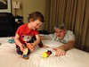 Playing Disney toys w/ Uncle M