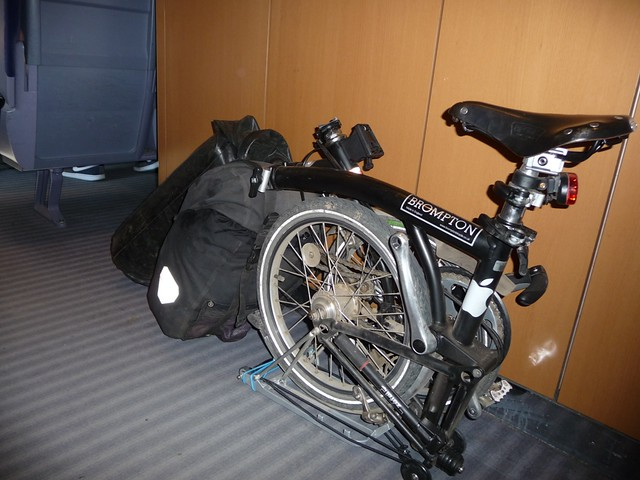 Brompton in the ICE intercity train