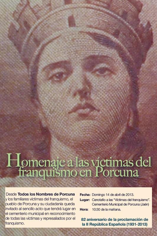 Homenaje a las Víctimas del Franquismo, Porcuna, 2013