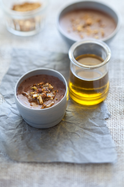 Olive Oil Chocolate Pots de Creme