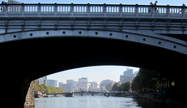 Princes Bridge and the Southbank footbridge, Yarra River, Melbourne