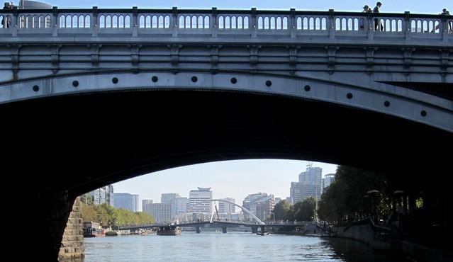 Princes Bridge and the Southbank footbridge, Yarra River, Melbourne