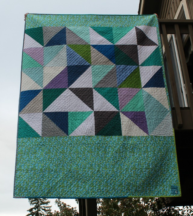 HST quilt washed & crinkly