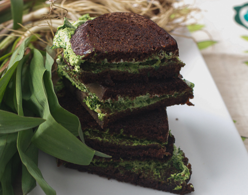 Ramp and Goat Cheese Grilled Cheese