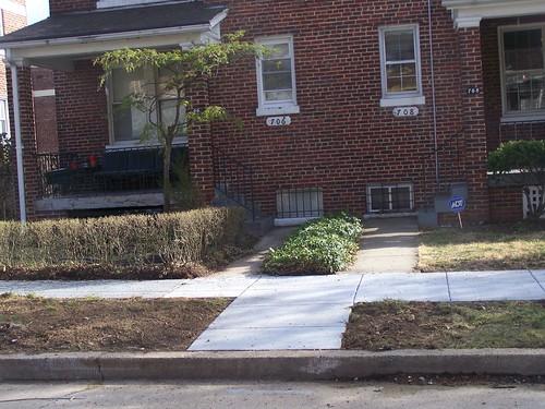 Sidewalk strip, Quackenbos St. NW