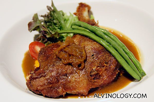 Orange duck confit at The Tasting Room