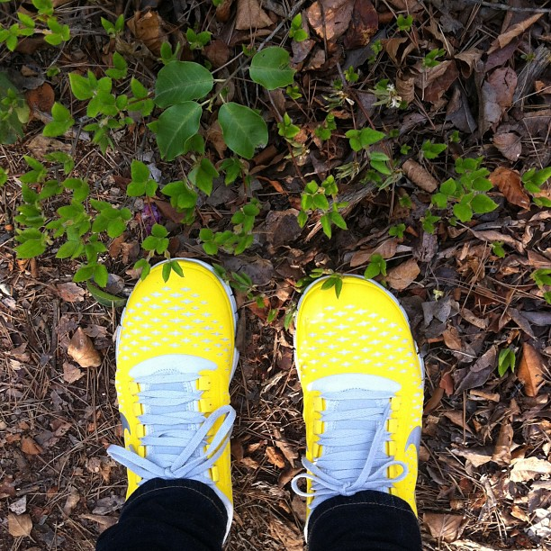 Got a new pair of running shoes:) yellow is my lucky color? #ichigonewjourney