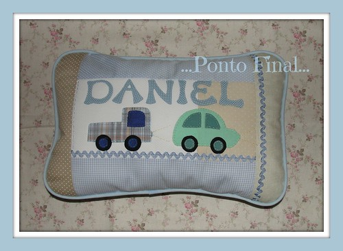 ...Almofada personalizada... by Ponto Final - Patchwork