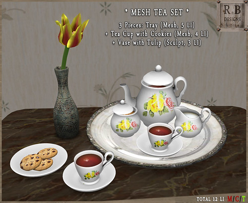 PROMO ! *RnB* Mesh Tea Set - Yellow Roses