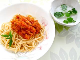 IMG_0968 minced pork spaghetti ,  猪肉碎意面