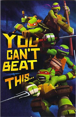 "AMERICAN GREETINGS :: ""NICKELODEON"" TEENAGE MUTANT NINJA TURTLES - ""YOU CAN'T BEAT THIS..."" Pop-up Birthday card i (( 2013 ))"