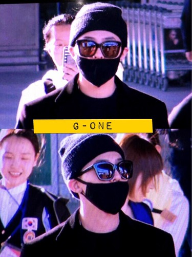 Big Bang - Incheon Airport - 10apr2015 - G-Dragon - G-One - 01